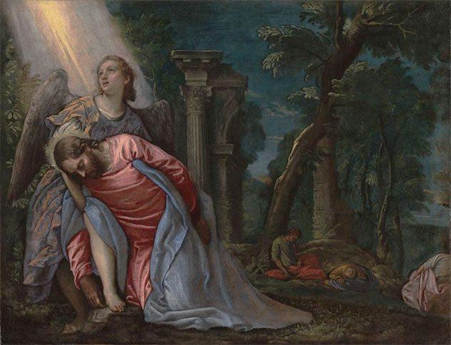 Il Cristo nell'Orto sorretto da un angelo (di Paolo Veronese)