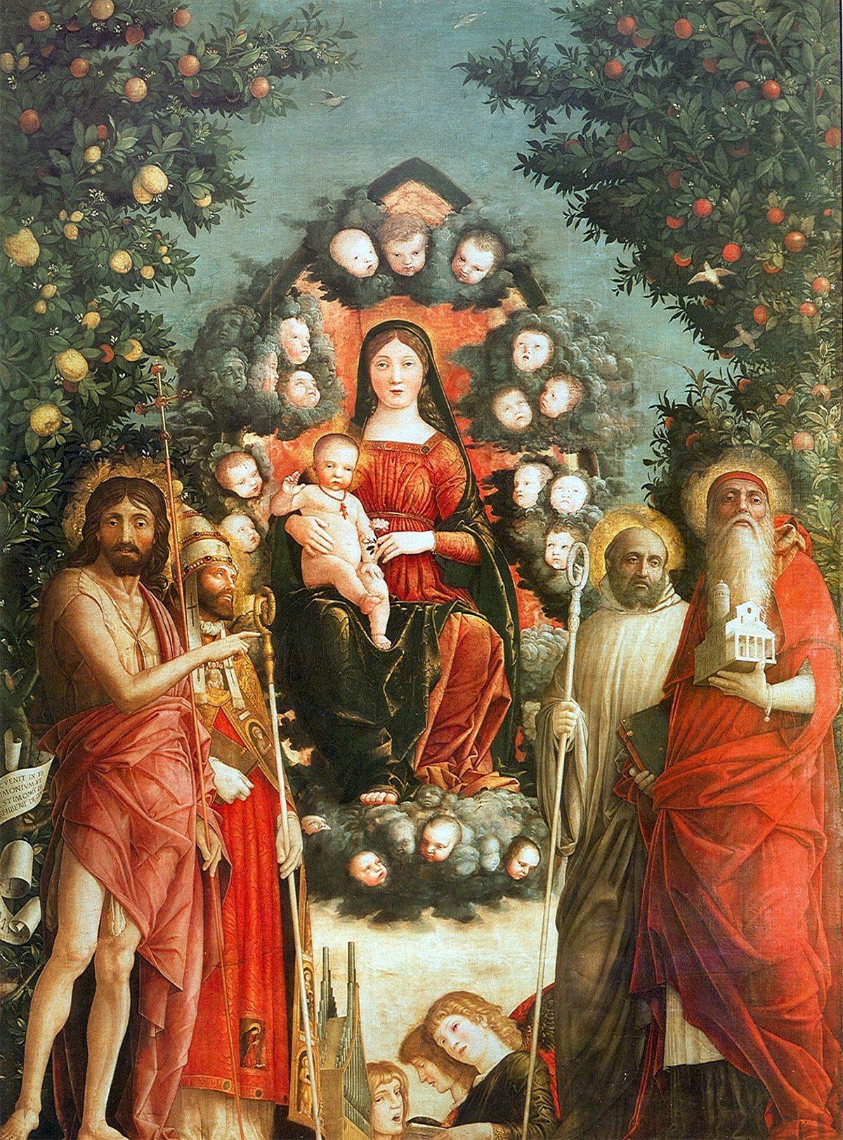 Madonna in gloria tra Santi (di Andrea Mantegna)