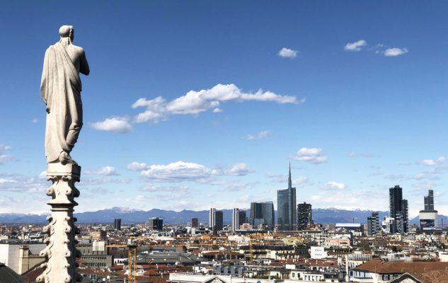 Vista panoramica di Milano