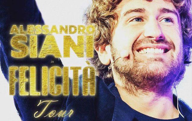 """Alessandro Siani a Milano nel 2020 con il """"Felicità Tour"""""""
