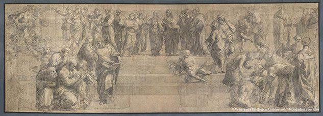 Cartone per la Scuola di Atene (di Raffaello Sanzio)