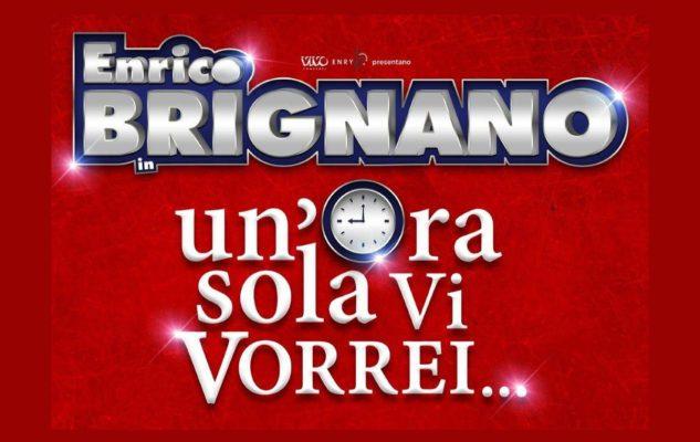 """Enrico Brignano a Milano nel 2020 con """"Un'ora sola vi vorrei"""": date e biglietti"""