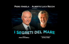 """Piero Angela e Alberto Luca Recchi a Milano nel 2022 con """"I segreti del mare"""""""