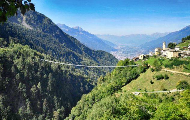 """""""Ponte nel Cielo"""": in Lombardia il Ponte Tibetano più alto d'Europa"""
